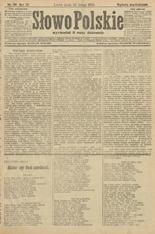Słowo Polskie (wydanie popołudniowe). 1906, nr98