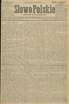 Słowo Polskie (wydanie popołudniowe). 1906, nr203