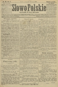 Słowo Polskie (wydanie poranne). 1906, nr216