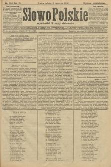Słowo Polskie (wydanie popołudniowe). 1906, nr244