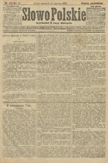Słowo Polskie (wydanie popołudniowe). 1906, nr273