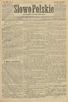Słowo Polskie (wydanie poranne). 1906, nr295