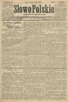 Słowo Polskie (wydanie popołudniowe). 1906, nr298