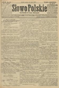 Słowo Polskie (wydanie popołudniowe). 1906, nr312