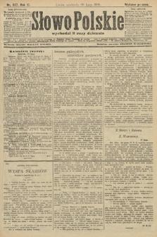 Słowo Polskie (wydanie poranne). 1906, nr337