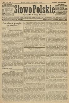 Słowo Polskie (wydanie popołudniowe). 1906, nr387