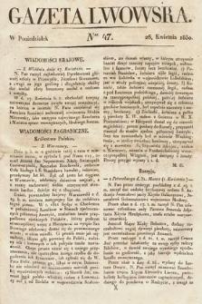 Gazeta Lwowska. 1830, nr47