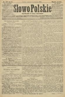 Słowo Polskie (wydanie poranne). 1906, nr409