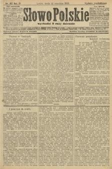 Słowo Polskie (wydanie popołudniowe). 1906, nr412