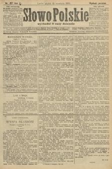 Słowo Polskie (wydanie poranne). 1906, nr427
