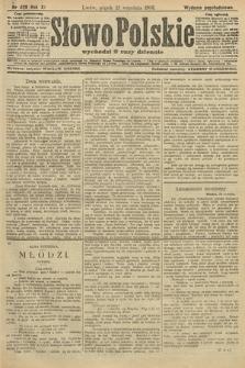 Słowo Polskie (wydanie popołudniowe). 1906, nr428