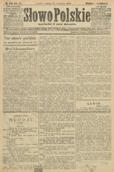 Słowo Polskie (wydanie popołudniowe). 1906, nr434