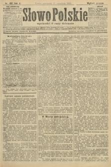 Słowo Polskie (wydanie poranne). 1906, nr437