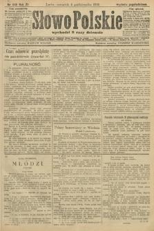 Słowo Polskie (wydanie popołudniowe). 1906, nr449