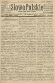 Słowo Polskie (wydanie popołudniowe). 1906, nr453