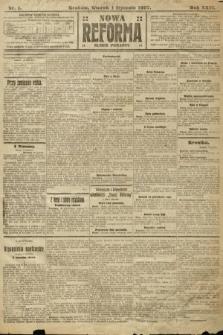 Nowa Reforma (numer poranny). 1907, nr1