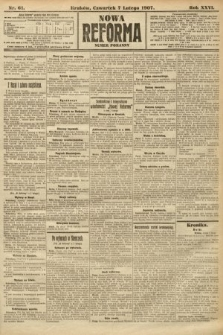 Nowa Reforma (numer poranny). 1907, nr61