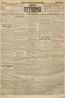 Nowa Reforma (numer poranny). 1907, nr71