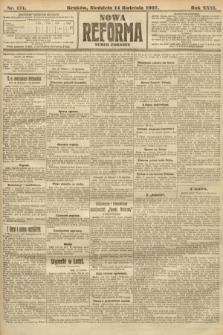 Nowa Reforma (numer poranny). 1907, nr171