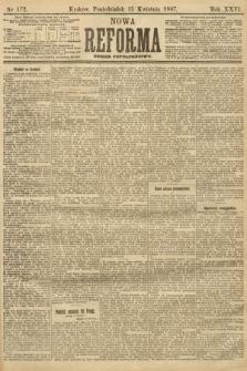 Nowa Reforma (numer popołudniowy). 1907, nr172