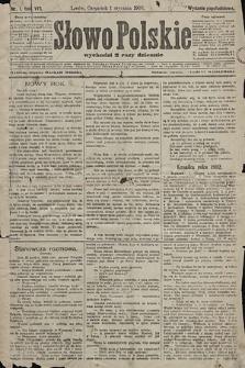 Słowo Polskie (wydanie popołudniowe). 1903, nr1