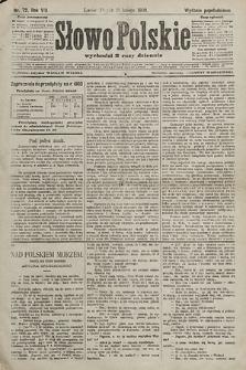 Słowo Polskie (wydanie popołudniowe). 1903, nr72