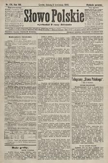 Słowo Polskie (wydanie poranne). 1903, nr170