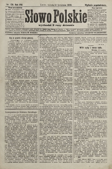 Słowo Polskie (wydanie popołudniowe). 1903, nr179