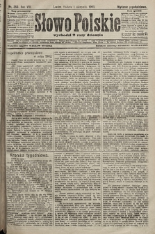 Słowo Polskie (wydanie popołudniowe). 1903, nr356