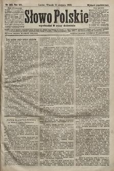 Słowo Polskie (wydanie popołudniowe). 1903, nr383