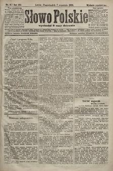 Słowo Polskie (wydanie popołudniowe). 1903, nr417