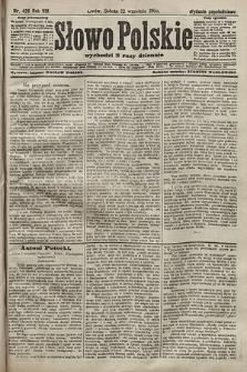 Słowo Polskie (wydanie popołudniowe). 1903, nr426