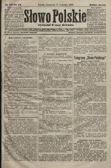 Słowo Polskie (wydanie poranne). 1903, nr433