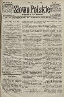 Słowo Polskie (wydanie poranne). 1903, nr437