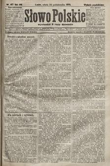 Słowo Polskie (wydanie popołudniowe). 1903, nr497