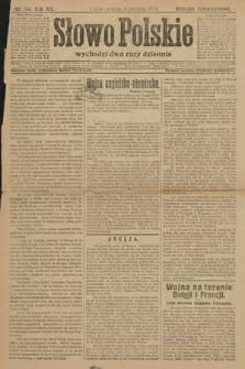 Słowo Polskie (wydanie popołudniowe). 1914, nr346