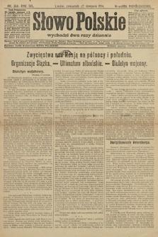 Słowo Polskie (wydanie popołudniowe). 1914, nr380