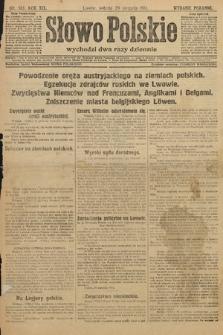 Słowo Polskie (wydanie poranne). 1914, nr383