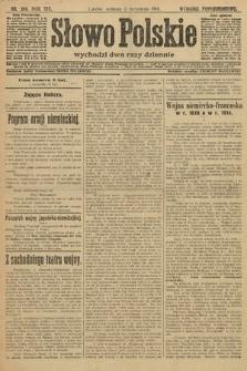Słowo Polskie (wydanie popołudniowe). 1914, nr396