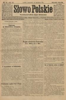 Słowo Polskie (wydanie poranne). 1914, nr402