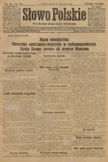 Słowo Polskie (wydanie poranne). 1914, nr412