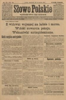 Słowo Polskie (wydanie poranne). 1914, nr420
