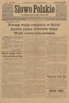 Słowo Polskie (wydanie poranne). 1914, nr422