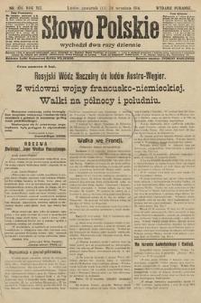 Słowo Polskie (wydanie poranne). 1914, nr426