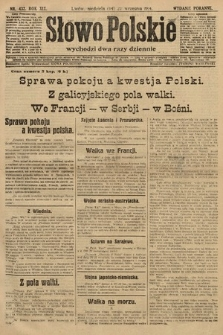 Słowo Polskie (wydanie poranne). 1914, nr432