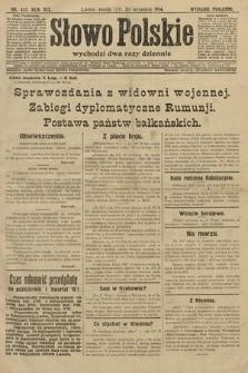 Słowo Polskie (wydanie poranne). 1914, nr435