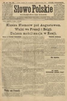 Słowo Polskie (wydanie popołudniowe). 1914, nr448