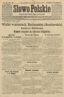 Słowo Polskie (wydanie popołudniowe). 1914, nr482