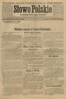 Słowo Polskie (wydanie popołudniowe). 1914, nr512