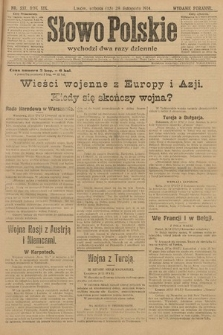 Słowo Polskie (wydanie poranne). 1914, nr537